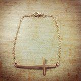 Side Cross Chain Bracelet