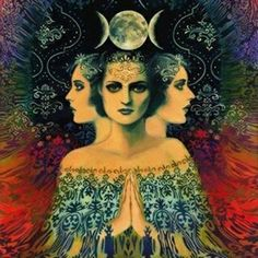 Triple Goddess Invocation Lady of the morning Maiden full of grace Remind me…