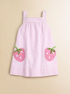 Florence Eiseman - Toddler's & Little Girl's Seersucker Strawberry Dress