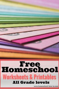 Here are some free printables and worksheets created for homeschoolers. Enjoy them and put them to good use.  Many times you can accomplish just as much with your own page as you can with a whole workbook.