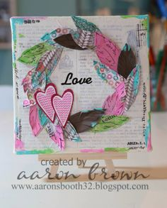 A Creative Adventure. 3d Paper Crafts, Diy Crafts, Feather Cards, Paper Feathers, Projects To Try, 3d Projects, Project Ideas, Heart Cards, Close To My Heart