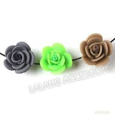 30x Assorted Roses FIMO Polymer Clay Bead Fit Jewelry making  111468
