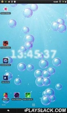 Bubbles & Clock Live Wallpaper  Android App - playslack.com ,  Live Wallpaper combines two types of wallpaper in one application. Bubbles and digital clock. As you wish, you can leave only bubbles or just clock, and you can clock and bubbles, adjust the wallpaper to your liking.- More than 10 color themes (Day-time sky, white, black, blue, green, purple, orange, red, violet and pink, yellow and green).- You can control: the number of bubbles speed of the bubbles size of the bubbles.Digital…