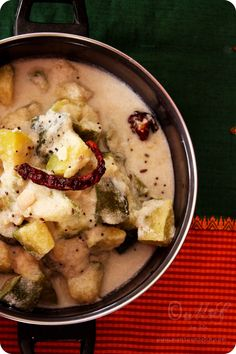 Monsoon Spice | Unveil the Magic of Spices...: Kembude Kai Bendhi | Pumpkin and Cashews in Coconu...