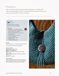 Blue Crochet Bag directions. 2 of 3 ☀CQ #crochet #bags #totes