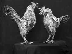 Gary Hovey Sculptures - made from silverware...