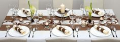Brown White Wedding Table decoration - Some adjustments to be made for us