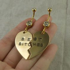 Set of two belly button rings, bestfriend bellybutton jewelry ,best bitches belly ring,bff gift and other apparel, accessories and trends. Browse and shop 8 rel. Belly Button Piercing Jewelry, Ear Piercings Cartilage, Piercing Ring, Ear Plugs, Double Cartilage, Tongue Piercings, Cartilage Earrings, Cute Belly Rings, Belly Button Rings