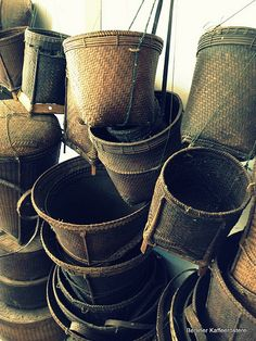 Coffee farming baskets Laos