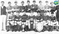 Glenn Hughes in his school team. He was a good left back and played for the district.