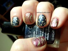 Metallic Zebra and Leopard print nails using Avon Suede polishes #animalprint #suede