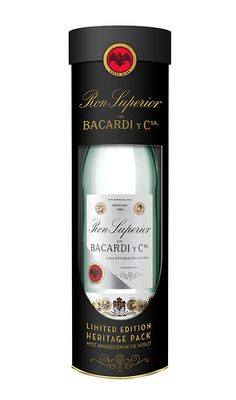 """Coinciding the with the yearlong celebration of BACARDi's anniversary, the company is releasing a limited-edition festive heritage gift pack, which recreates one of the earliest BACARDÍ Superior bottle designs and labels. Wine And Liquor, Wine And Beer, Bacardi Rum, Strong Drinks, Bottle Box, Bottle Design, Alcoholic Drinks, Cocktails, Energy Drinks"