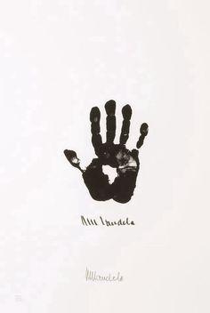 African hand - N. Mandela