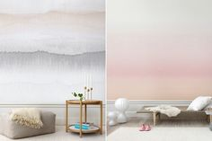 (Photos courtesy Sandberg) This season, Swedish-based interiors company Sandberg debuts Carl, a striped wallpaper collection inspired by the country's winter landscapes. Our two favorites come from. Striped Wallpaper, New Wallpaper, Colorful Wallpaper, Watercolor Wallpaper, Watercolor Walls, Wall Treatments, Cool Walls, Inspired Homes, Scandinavian Design