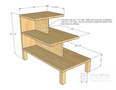 Ana White | Build a Step Up Side Table | Free and Easy DIY Project and Furniture Plans