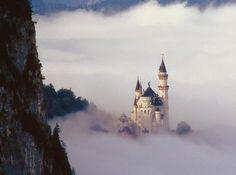 Neuschwanstein Castle,19th-century Romanesque Revival near Füssen in southwest Bavaria, Germany