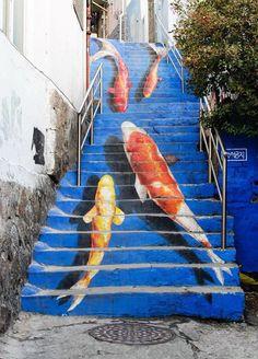 Escaleras- Seul, Corea del Sur