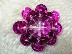 Embroidery DIY, tutorial, handmade crafts and such: How to Sew Sequin Flower 2