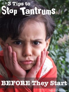 Stop temper tantrums before they start with these three positive parenting tips. (This could also be useful for difficult grown-ups in your life too!)