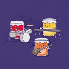 "Puns--Creative Illustrations Create Humorous Visual Puns - ""jam session"""