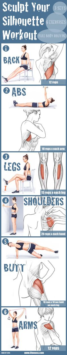 Sculpt Your Silhouette With These 6 Exercises