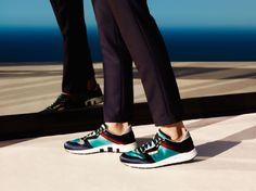 Gucci Men's Cruise 2014 Collection | The sneakers-and-suit trend is still on! Must-have!