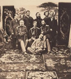 "Tsarevich Nikolai Alexandrovich Romanov of Russia amongst friends. Nikolai was the son of Tsar Alexander II of Russia. ""AL"""