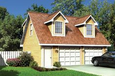 Cape Cod Traditional Garage Plan 6016