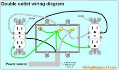 double outlet box wiring diagram in the middle of a run in one box 1964 Mustang Alternator Wiring Diagrams double outlet in one box wiring diagram electrical wiring diagram, electrical outlets, outlet wiring