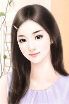 chinese girl y Beauty Art, Lovely Girl Image, Girly Art, Beautiful Fantasy Art, Female Art, Chinese Art, Digital Art Girl, Chinese Drawings, Painting Of Girl