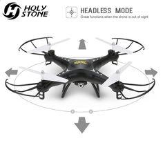 कैमरा आरसी हेलीकॉप्टर 720 पी एचडी लाइव वीडियो वाईफ़ाई 2.4GHz 4CH 6-एक्सिस Gyro Altitude होल्ड क्वाडकोप्टर के साथ होली स्टोन एचएस 110 एफपीवी आरसी ड्रोन