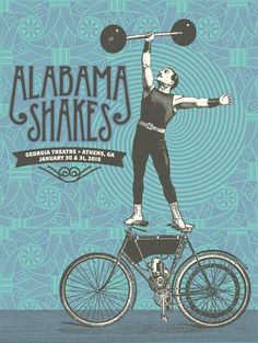 Official poster for the Alabama Shakes 2-night performance at the Georgia Theatre in Athens, GA. Artist edition of only 30.