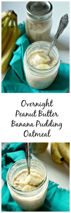 Oats are combined with ripe bananas, peanut butter, maple syrup, and coconut milk and refrigerated overnight. The result: a creamy, healthy, breakfast that tastes just like one your favorite desserts.