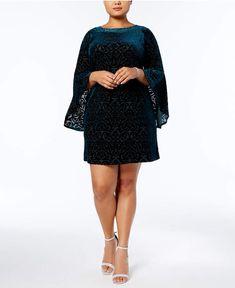 Jessica Howard Plus Size Burnout Velvet Sheath Dress..very pretty dress..#ad#plussizefashion