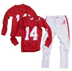 Wes and Willy Boys Apparel - Alabama Football Pajamas, $40.00 Jay would about DIE for Connor to have these