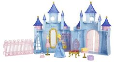 Cinderella's royal boutique- pink purse, gold purse, table, yellow present, pink hanger