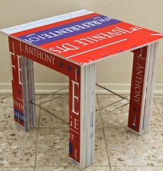 Recycle - Reuse: Re-purpose Plastic Political Campaign Signs A table made from reclaimed corrugated plastic political campaign signs, yard sign h-frames, zip ties and packing tape Political Yard Signs, Yard Games For Kids, Campaign Signs, Campaign Ideas, Small Backyard Decks, Yard Sale Signs, Yard Furniture, Corrugated Plastic, Plastic Tables