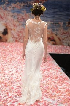 #Wedding #Dress #White #Lace #Lowback #Fashion // Claire Pettibone Wedding Dress Collection Fall 2013 | Bridal Musings