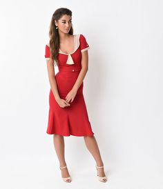Try not to panic, darlings, because this beauty can only be found at Unique Vintage! If you're a fan of pinup clothing, you've come to the right place. Unique Vintage carries a full line of beautiful 1930s and 1940s dresses from retro-inspired brands. The