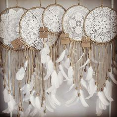 Orders heading out tomorrow #ohsodoily #dreamcatcher #dreamweaver #vintage #doily #crochet #bohemian #gypsy #hippy #boho #walldecor #interior #wallhanging #bedroom #wedding #nursery #babysroom #flowerchild #feathers #love