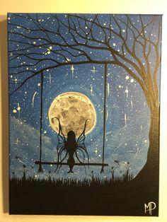I wish I may  9 x 12 acrylic on canvas  ready por MichaelHProsper
