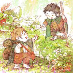 Lord of the rings- Frodo and Sam by harmonia3784.deviantart.com on @deviantART