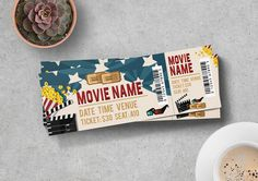 Movie Ticket Design for only $6 | Designs.net Passenger Tickets, Ticket Design, Ticket Template, Movie Tickets, Typography, Packaging, Layout, Templates, Movies