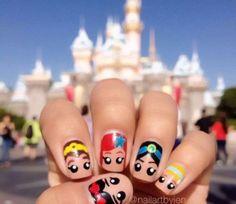 nice disney princess nail art @Emily Schoenfeld Schoenfeld Schoenfeld Crowley (Emily,...