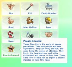 People-Oriented Trait! by sarahhamaya at Mod The Sims via Sims 4 Updates