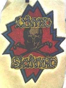 LYNYRD SKYNYRD SKULL CROSSBONES RARE 70's ROCK MUSIC VINTAGE T-SHIRT IRON ON