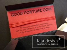 Good fortune coin box