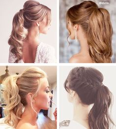 Penteado rabo de cavalo chique Diy Wedding Hair, Wedding Tips, Ponytail Hairstyles, Wedding Hairstyles, How To Make Hair, Make Up, Sarah Angius, Gorgeous Hair, Beautiful