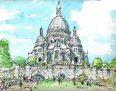 Paris Sacre Coeur 12 x 9 print signed by AndreVoyy on Etsy, $20.00