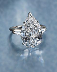 A diamond solitaire ring, Harry Winston.Photo courtesy Bonhams
